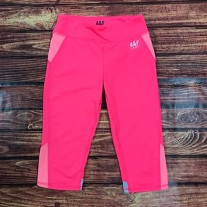 A&F Active Hyper Pink Athletic Tights Shorts